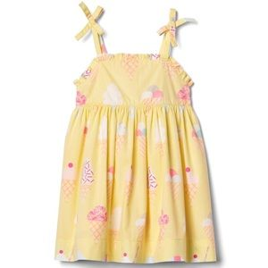 Gap Girls Yellow Icecream Dress
